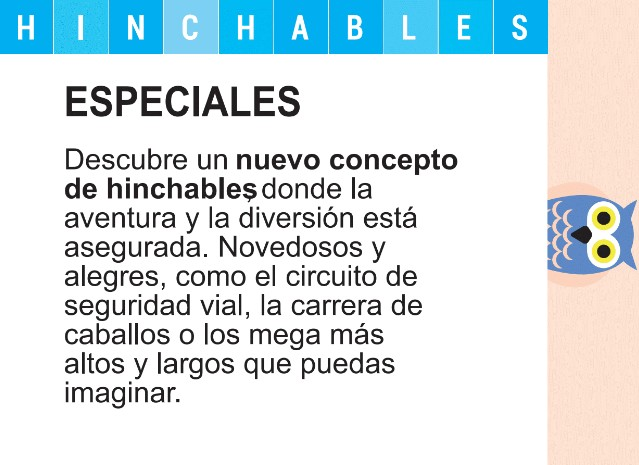 Hinchables Especiales