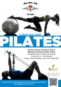 2016-2017 Cartel Actividades Deportivas AERO Pilates