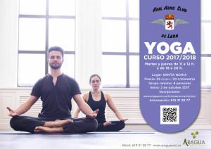 2016-2017 Cartel Actividades Deportivas AERO Yoga Correcto