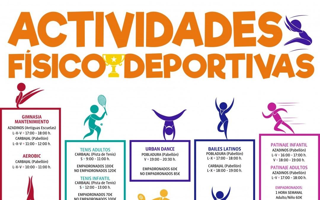 ¿Todavía no te has inscrito? Actividades Deportivas Ayuntamiento de Sariegos