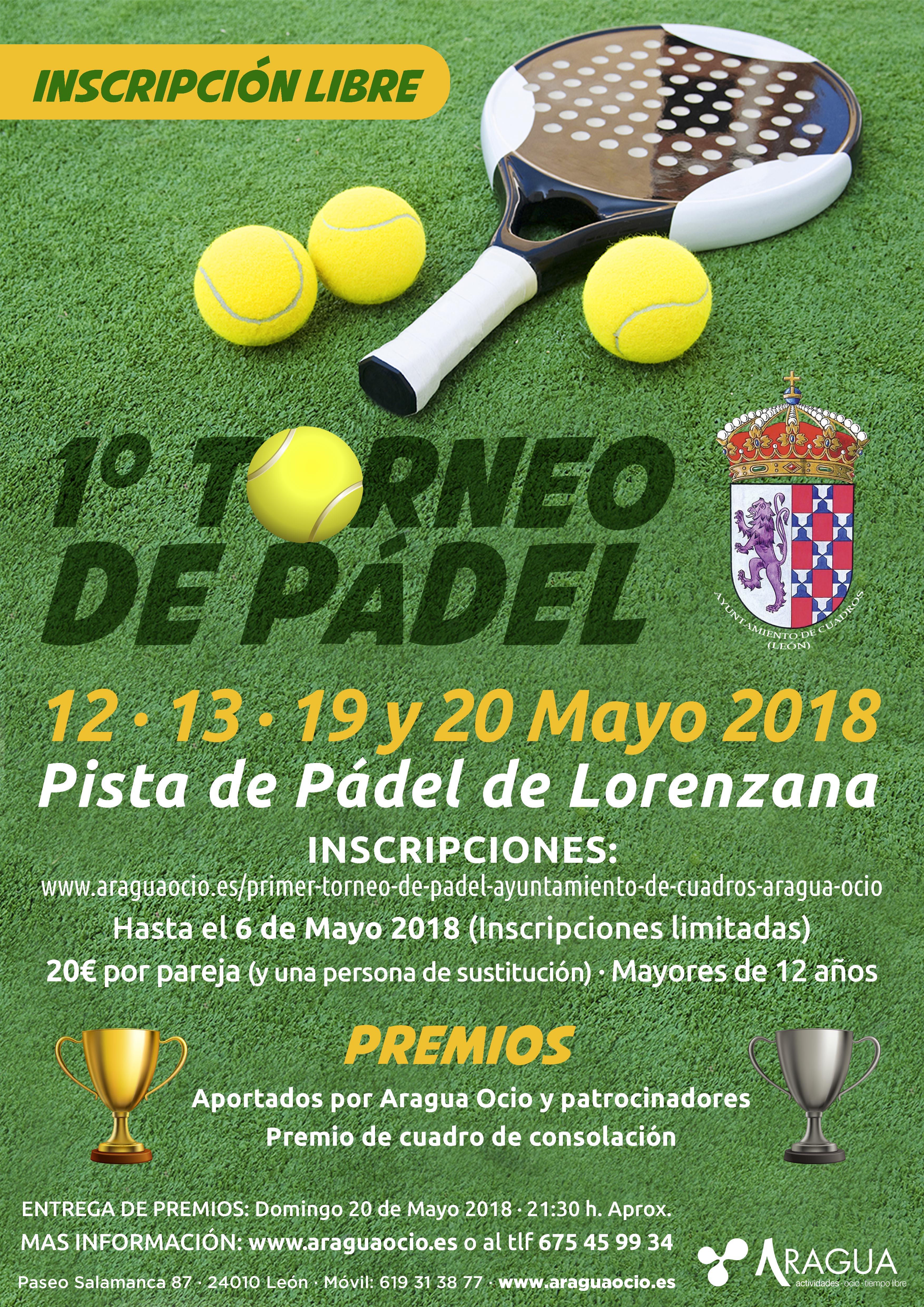 I Torneo Pádel Ayto. Cuadros
