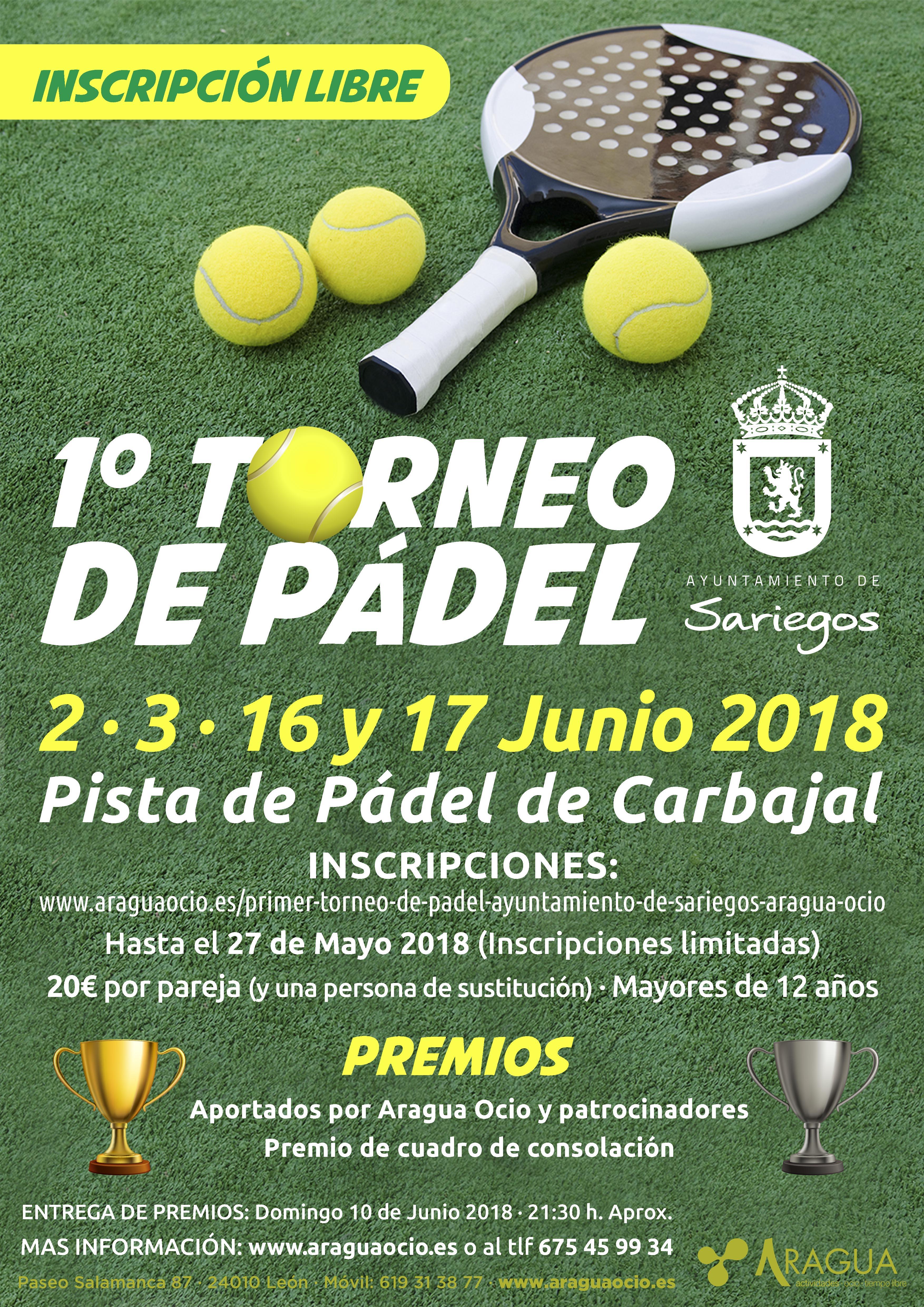 I Torneo Pádel Ayto. Sariegos