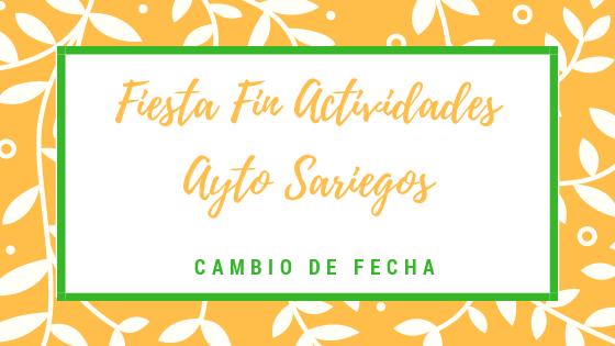 Se cambia la fecha de la Fiesta de Fin de las Actividades Deportivas del Ayuntamiento de Sariegos.