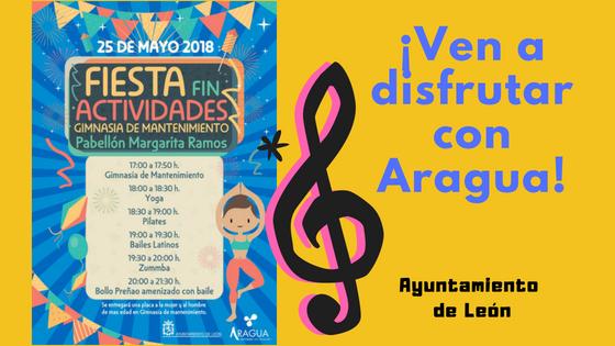 Fiesta Fin de Actividades del Ayuntamiento de León. Gimnasia de Mantenimiento y Aeróbic.