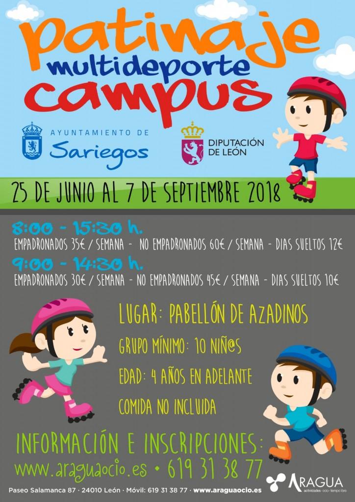 Cartel Campus Ayto Sariegos Multideporte Patinaje