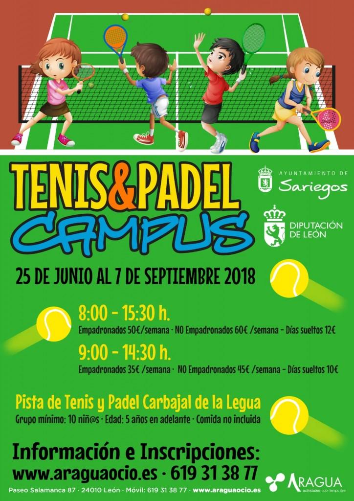 Cartel Campus Ayto Sariegos Tenis Padel