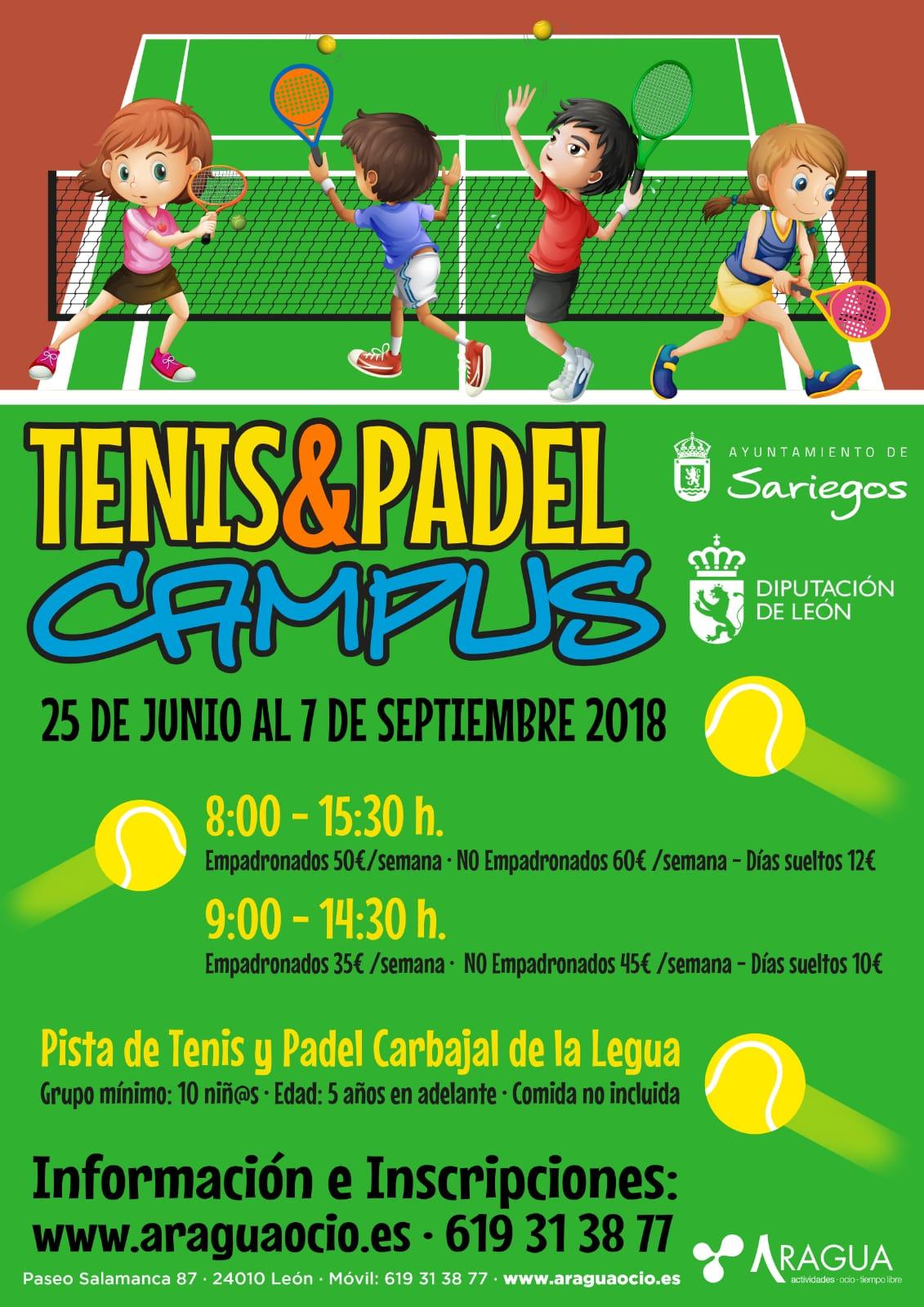 Campus Verano 2018 Deportivos. Tenis Pádel.