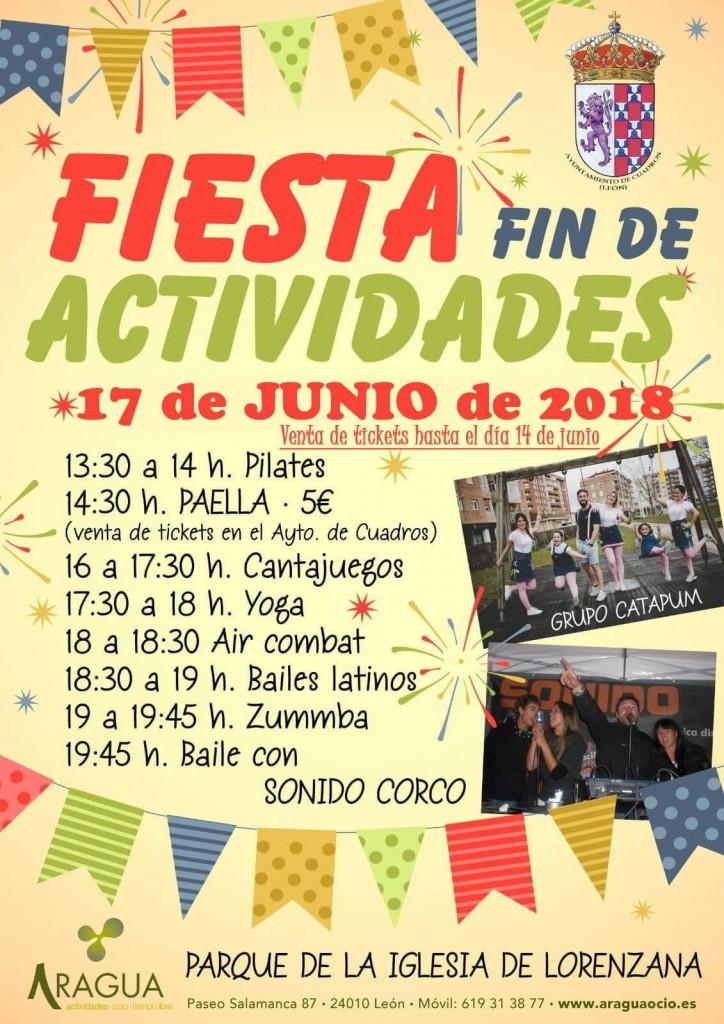 Cartel Fiesta Cuadros 17 Junio 2018