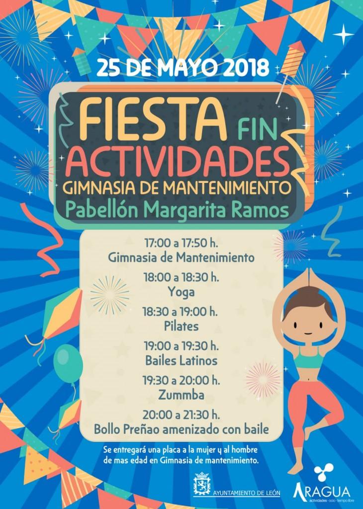 Cartel Fiesta Fin Actividades Ayto León