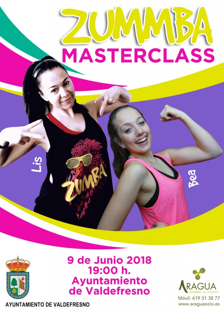 Cartel Master Class Zumba Bea y Lis