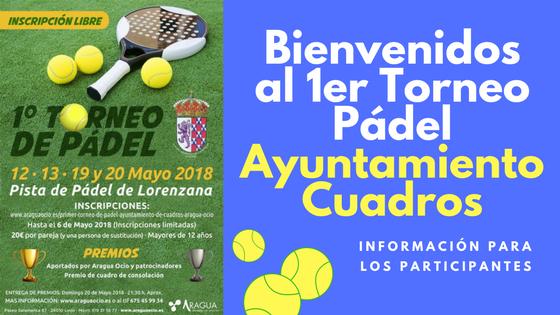 Seguimos con el Primer Torneo de Padel Ayuntamiento de Cuadros Aragua Ocio