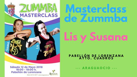Masterclass de Zummba. Susana y Lis en el Pabellón de Lorenzana.
