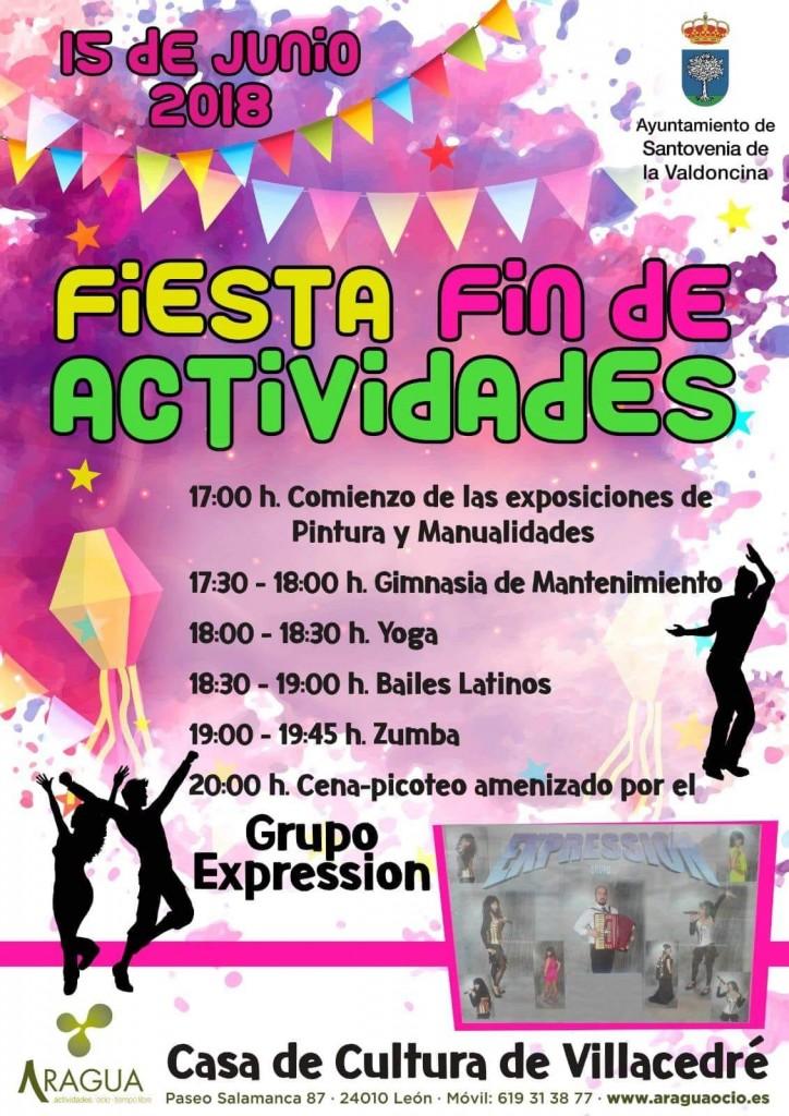 Cartel Fiestas Actividades Santovenia 2018