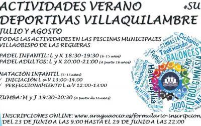 ¡¡ABRIMOS INSCRIPCIONES ACTIVIDADES DEPORTIVAS AYTO VILLAQUILAMBRE!!